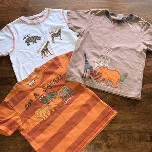 Gymboree Safari Animals T-Shirt Bundle